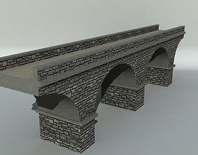 3D model game-ready Stone Bridge