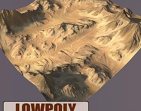 3D model game-ready Lowpoly Mountain
