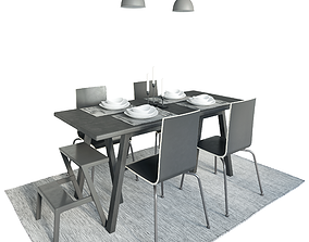 3D Table Riggestad and chair Martin by Ikea