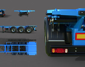 3D Trailer for containers