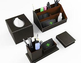 3D Stationery set on the Desk