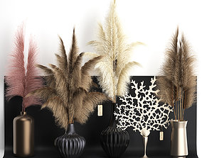dry reed shelf decor collection 3D model