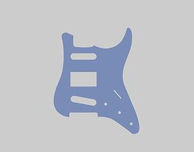 pickguard per chitarra S-H-S 3D print model 3D print