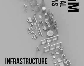 Infrastructure and Objectives Mega Pack 3D print model
