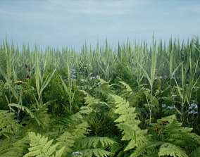 Ultimate Mobile Foliage Pack 01 3D asset