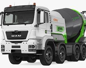 Energya E9 Truck Hybrid Mixer Rigged 3D