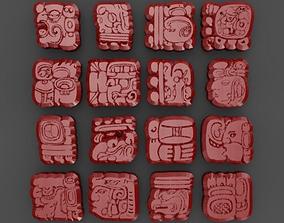 Mayan Symbols 3D model
