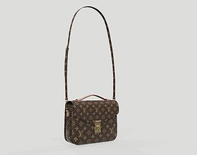 3D model Louis Vuitton Pochette Metis Bag Monogram Brown