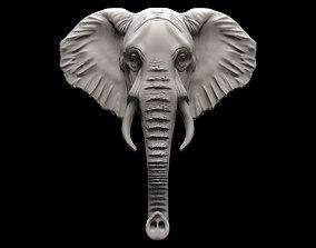 Elephant bas relief pendant 3D print model