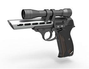 3D model Moff Gideon Blaster pistol from The Mandalorian 1