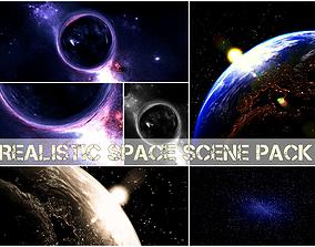 Blender scene space pack 3D