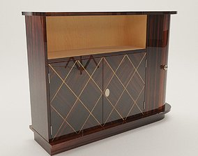 Bar commode - Art Deco 1920 - France 3D model