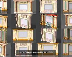 3D Fireplace portals by Egor Morozov
