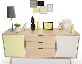 Summer Furniture Dresser 3D model