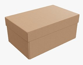 3D model Lid and try cardboard box packing 04
