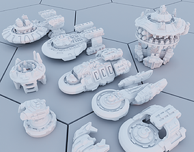 3D print model Twilight Imperium Ships Federation of Sol