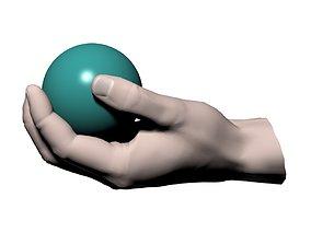 Hand holding ball 3D