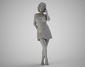 Young Woman 3D printable model fashion
