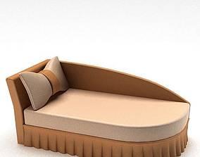 3D Tan Lounge Chair