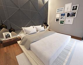 books 3D model master bedroom