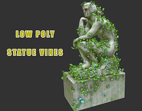 3D model Statue Vines 016 - Low Poly