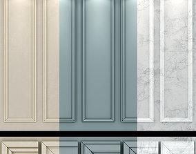 3D model Wall molding 19 Boiserie classic panels