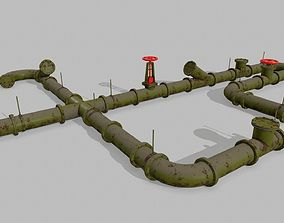 pipe set 3D model VR / AR ready