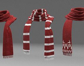 3D model wool scarf