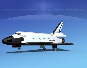 STS Shuttle Columbia Landing LP 1-3 3D