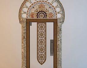 Oriental glass Door 3D