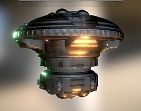 UFO Type 6 Animated and Game Ready 3D model