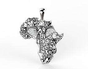 3D print model Pendant Africa
