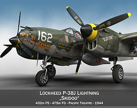 Lockheed P-38 Lightning - Skidoo 3D