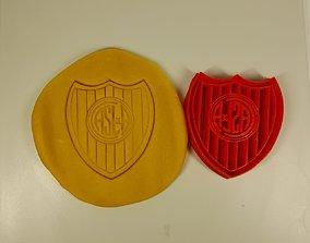 Cutter cookie San Lorenzo soccer Cortante futbol 3D
