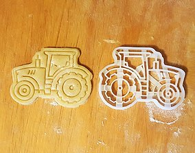 Tractor cookie cutter 3D printable model