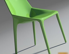 3D Chair Outline Green