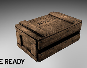 3D model realtime Wooden Ammo Crate -- Game-Ready
