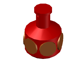 3D printable model Potion Bottle Coin Container