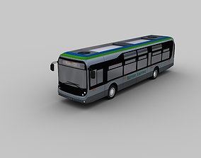 3D model Electric Bus Lowpoly 4