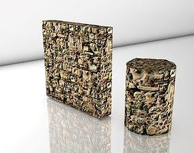 3D model REALISTIC SEAMLESS PBR STONE WALL 013