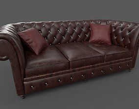 3D model Chesterfield Sofa - 6 versions