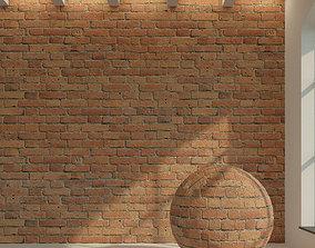 3D Brick wall Old brick 45