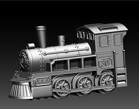 3D printable model locomotive toy key