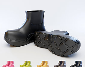 leather BV Puddle Boots 3D