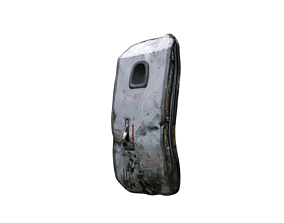 Door plane crashed 3D asset