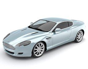 3D model Aston Martin DB9 luxury sports coupe