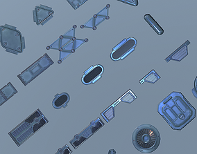 Sci-fi Meshes and Textures pack 3D model