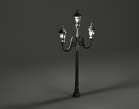 3D model art Lamp post