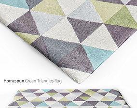 3D model Homespun Green Triangles Rug