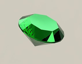 Emerald 3D printable model jewel